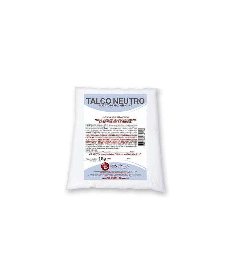 TALCO NEUTRO 1KG - MATERIAL HOSPITALAR - MATERIAIS HOSPITALARES - Modelo Hospitalar